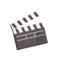 black open movie clapperboard vector image