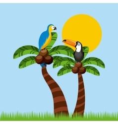 brazilian culture design vector image vector image
