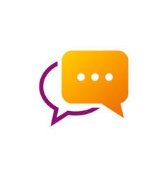 Chat talk communication logo vector
