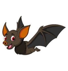 Cute cartoon bat flying vector