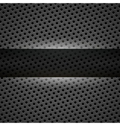 Dark gray metal background vector