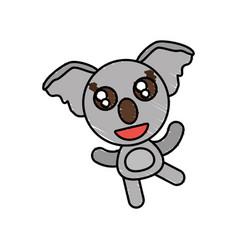 Drawing koala animal character vector