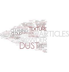 Dust word cloud concept vector