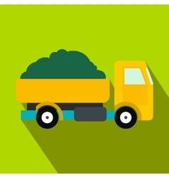 Farmer truck flat icon vector