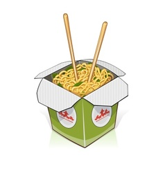 Fast food chinese noodles in vector