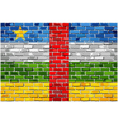 Flag of central african republic on a brick wall vector