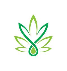 leaf eco sign logo vector image