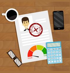 Loan refusal concept business vector