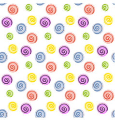 lollipop candy seamless pattern vector image vector image