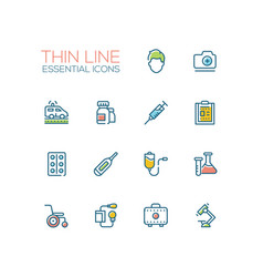 medical equipment - line icons set vector image vector image