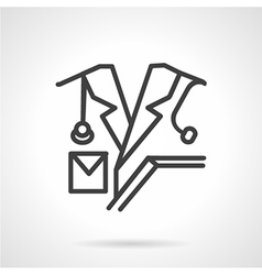 Medical personnel line icon vector