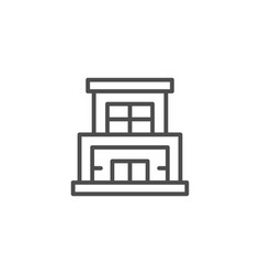 modern building line icon vector image vector image