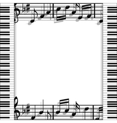 Musical frame vector