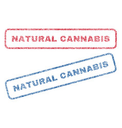 Natural cannabis textile stamps vector