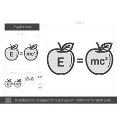 Physics line icon vector