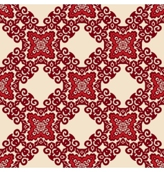 Red seamless pattern ornament motif vector