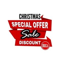 Sale tag Sale banner vector image
