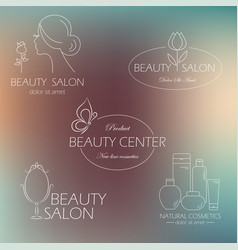 Set of beauty logo templates labels badges vector