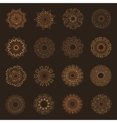 Set of oriental mandalas vector image