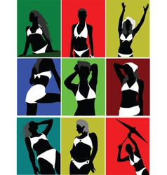 Silhouette poses vector