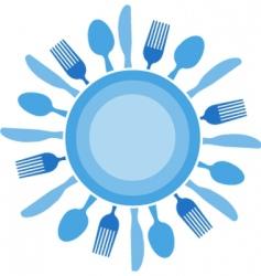silverware vector image