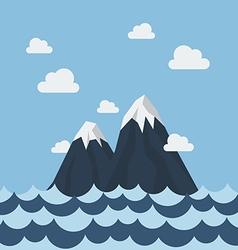 Summer sea and mountain vector