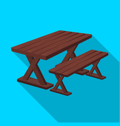 Table for restbbq single icon in flat style vector