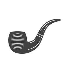Tobacco pipe black icon logo element flat isolated vector