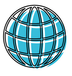 watercolor silhouette of world globe icon vector image vector image
