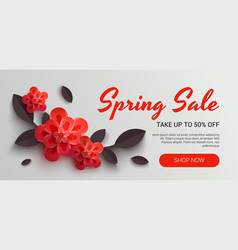 Web wanner with red paper vector