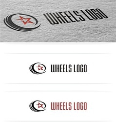 Wheels cars logo vector