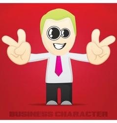 Cartoon Business Character vector image