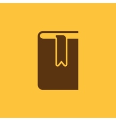 Book and bookmark icon design library vector