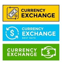 Signboard currency exchange vector