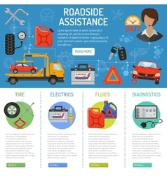 Car Service and Roadside Assistance Infographics vector image