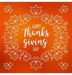 Happy thanksgiving day card autumn blurred vector