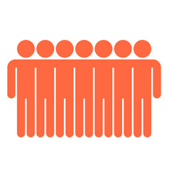 seven man sign people icon vector image