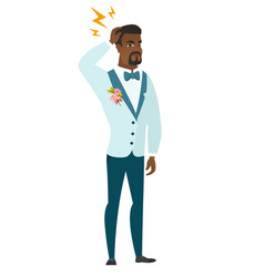 African groom with lightning over his head vector