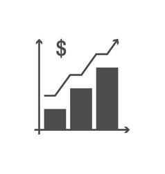 Growing schedule icon vector