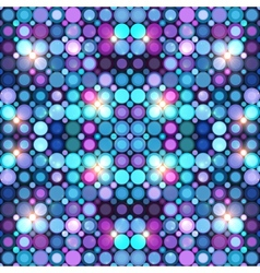 Abstract blue disco lights background vector