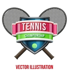 Label for tennis sport competition bright premium vector