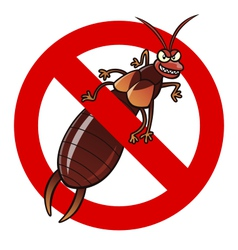 Anti earwig sign vector