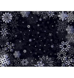 Christmas greeting card in dark blue hues vector