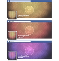 Classic elegant face book page cover banner and vector