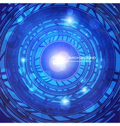 Blue Techno Background vector image
