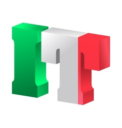 internet top-level domain of italy vector image