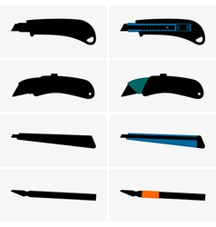 Cutter knives vector image