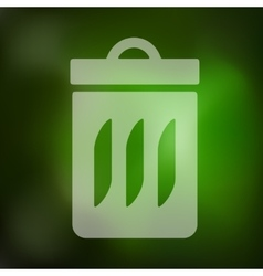 Trash can icon on blurred background vector
