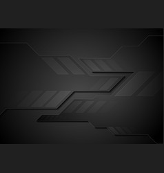 Abstract black technology background vector