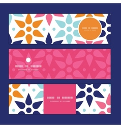 abstract colorful stars horizontal banners vector image
